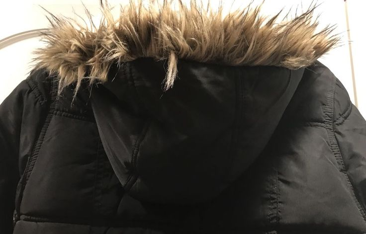Justice Girls Black Warm Puffer Jacket With A Faux Fur Hood Winter Snow Coat  | eBay