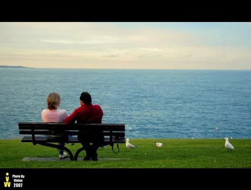 couple watch sunset