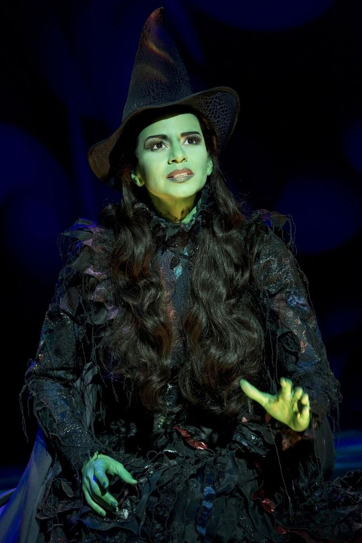 """Mandy Gonzalez as Elphaba in """"WICKED."""" Photograph by Joan Marcus."""