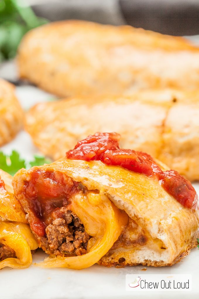 These Weeknight Taco Pockets have all the goodness of your favorite ...