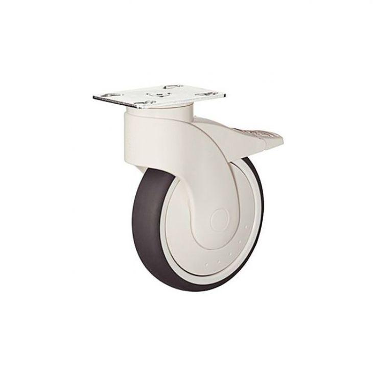 Ruote per mobili Manovrabile con bloccaggio fissaggio da avvitare diametro 125 mm Portata 110 kg