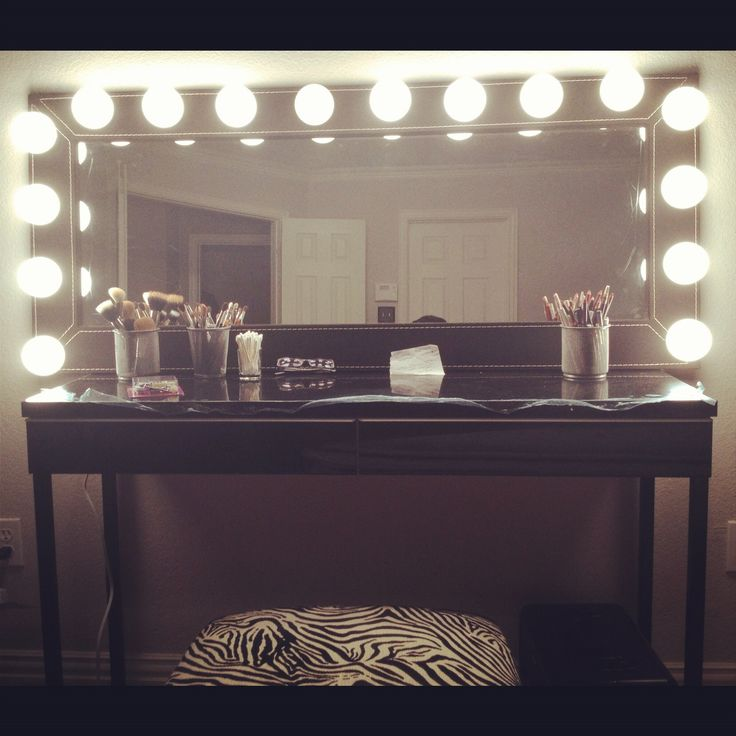 Makeup Vanity Lights With Mirror : Makeup Vanity Mirror Build a closet ROOM Pinterest Vanities, Do it yourself and Patterns