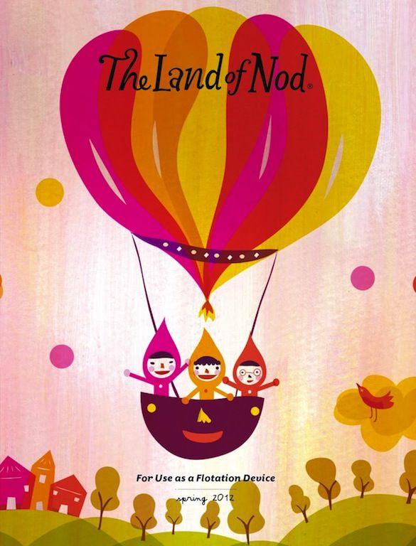 Land of Nod Catalog Art