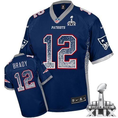 840613199 ... Jersey Nike Patriots 12 Tom Brady Navy Blue Team Color Super Bowl XLIX Mens  Stitched NFL Elite Nike New England Patriots 74 Dominique Easley ...