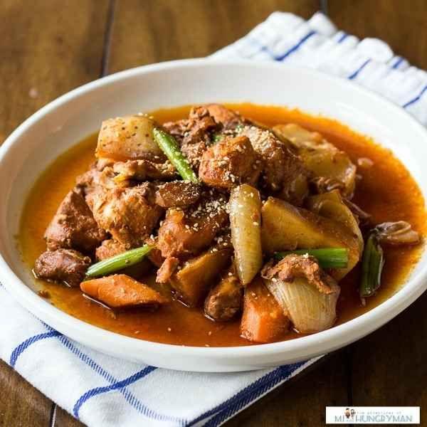 Frango Picante com Batatas Coreano