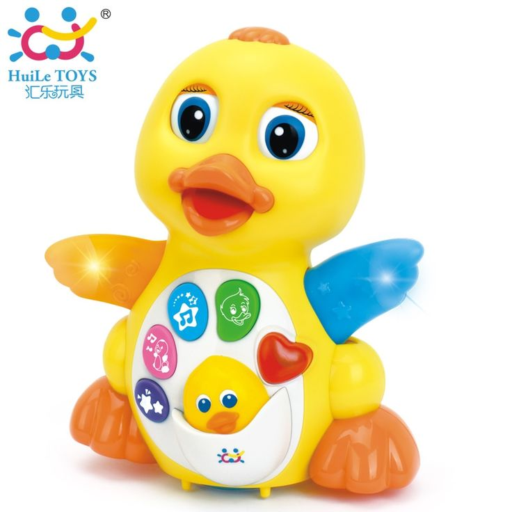 (42.99$)  Watch now  - HUILE TOYS 808 Baby Toys EQ Flapping Yellow Duck Infant Brinquedos Bebe Electrical Universal Toy For Children Kids 1-3 years old