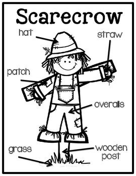 Scarecrow Labeling Posters & Differentiated Labeling