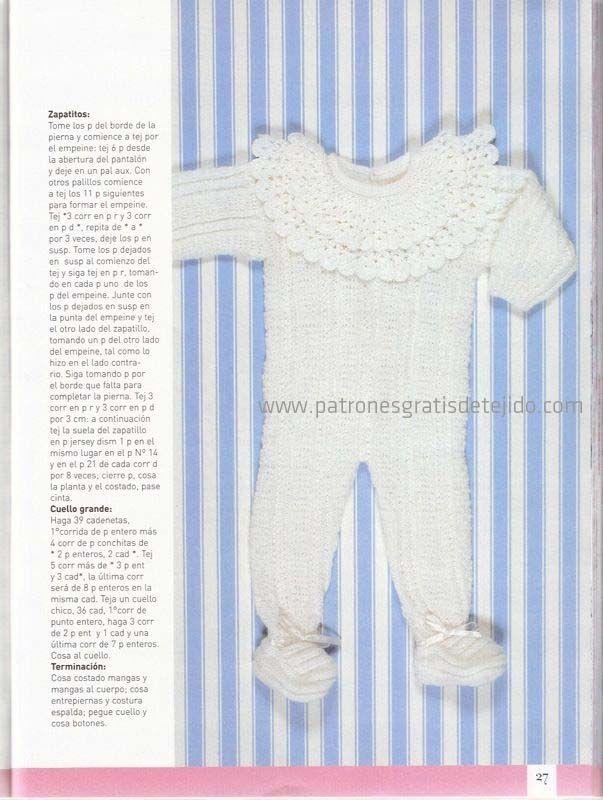 Mejores 34 imágenes de Tejidos bebe en Pinterest | Punto de crochet ...