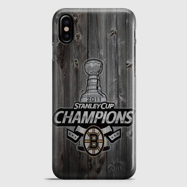 Custom Boston Bruins Hockey iPhone X Case