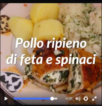 Pollo ripieno di feta e spinaci https://www.facebook.com/884520128316510/videos/979147078853814/