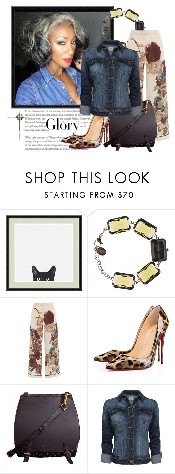 """Glory"" by clardy ❤ liked on Polyvore featuring Tiffany & Co., Amanti Art, Toy Watch, Valentino, Christian Louboutin, Burberry, MANGO, jeans, glory and mature"