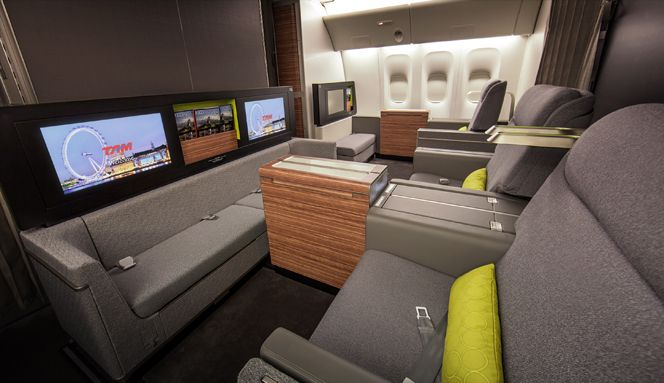 Aviation | Priestmangoode - Product, Transport and Environment Design - TAM Airlines First Class Cabin