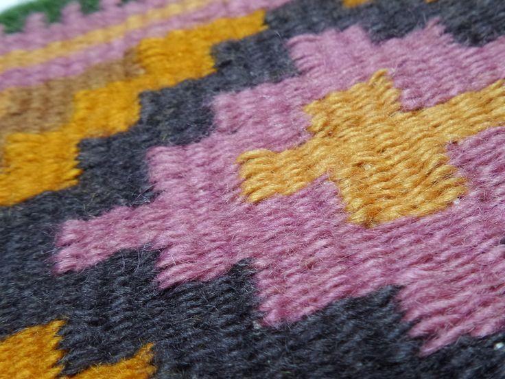 Szőttes részlet - hand woven bag detail - www.zentaianna.hu