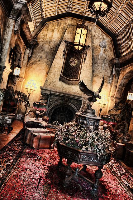 Tower of Terror lobby ... come stay at Our Sunny Villa... it isn't scary at all :)  www.oursunnyvilla.com