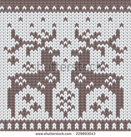 Deer/ reindeer knitting chart