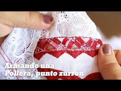Cómo se arma una Pollera de Gala Sombreada Calada? (punto zurrón con bolillo) - YouTube