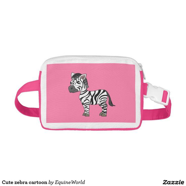 Cute zebra cartoon nylon fanny pack
