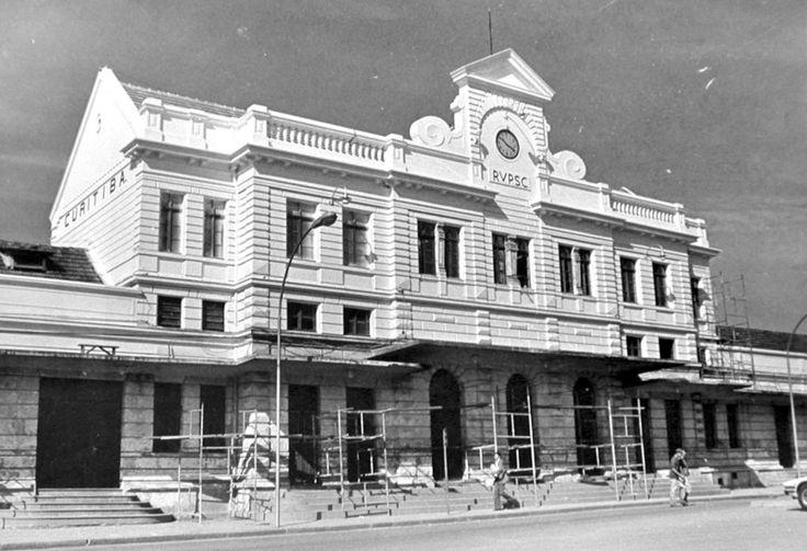 A antiga Estação Ferroviária, em foto de 1979, hoje Shopping Estação |