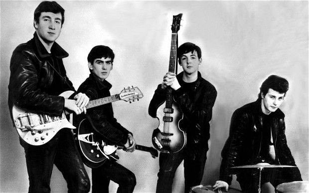 The Beatles in 1962 with their original drummer Pete Best. The Beatles' audition tape famously rejected by a record executive in 1962 has finally been uncovered after 50 years.