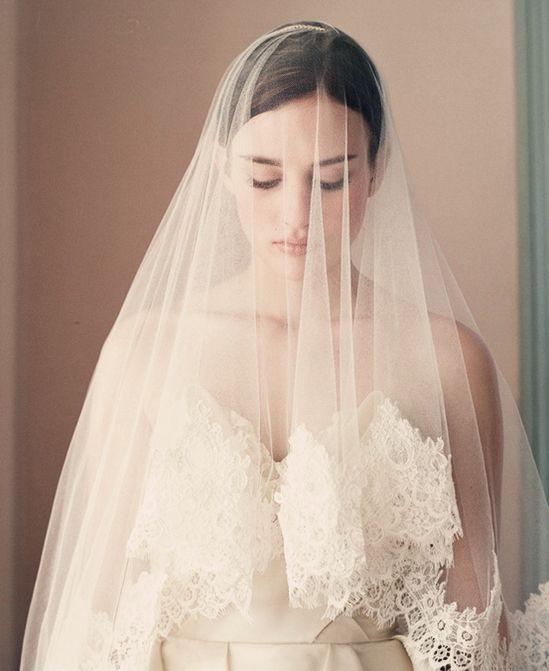 Best 25 Lace Wedding Veils Ideas On Pinterest
