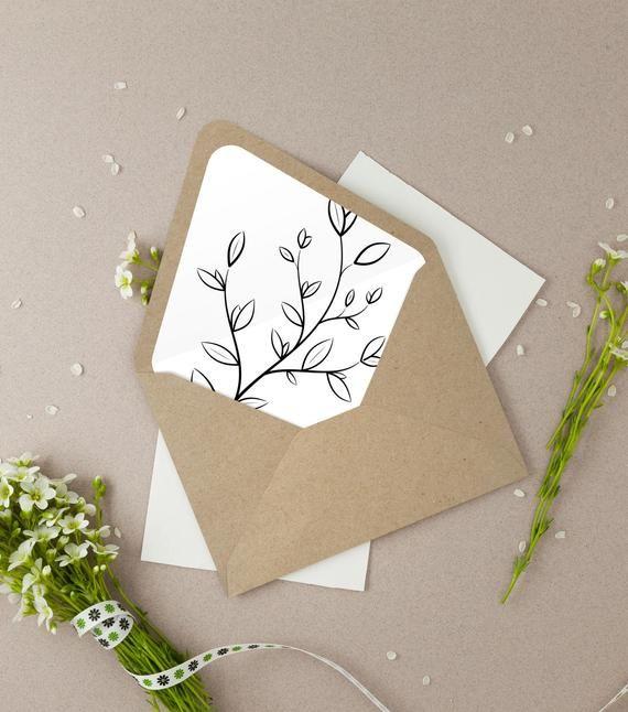 Rustic Printable Envelope Liner Sophie Kraft Envelope Liner Etsy Diy Envelope Liners Printable Envelope Diy Envelope
