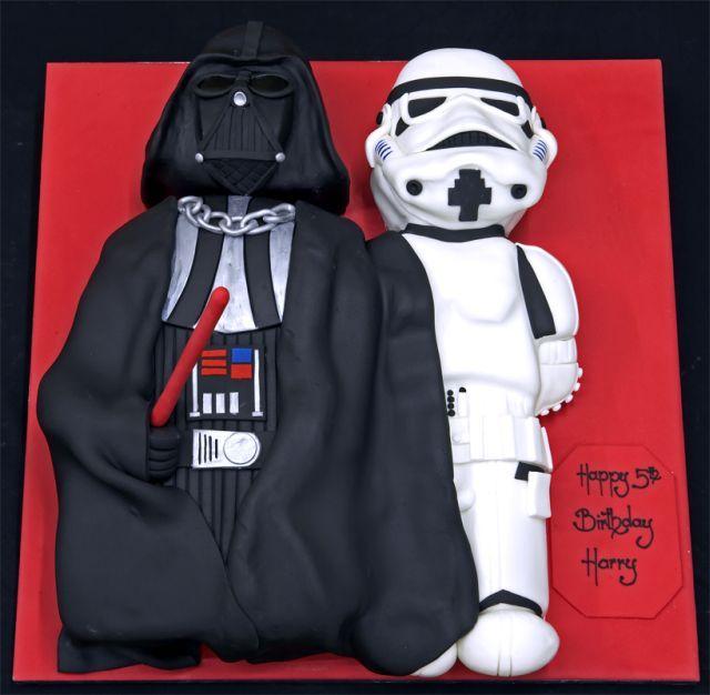 Star Wars - fun!: War Parties, Darth Vader, Cakes Ideas, Storms Troopers, Cake Ideas, Star Wars Cake, Stars War Cakes, Starwars, Birthday Cakes