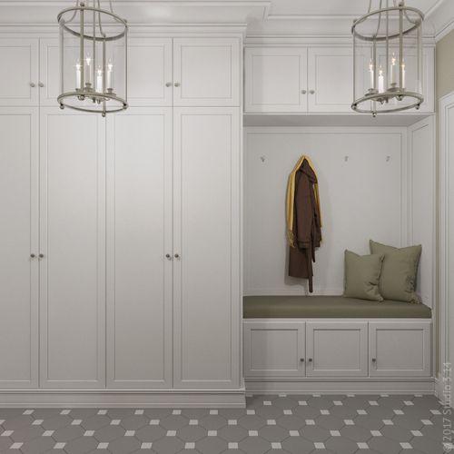Дизайн интерьера четырехкомнатной квартиры в г. Алма-Ата в стиле американской классики
