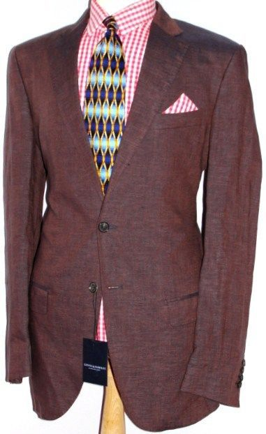 Gieves & Hawkes Brown  Linen Suit Chest 48 Waist 38 RRP £285