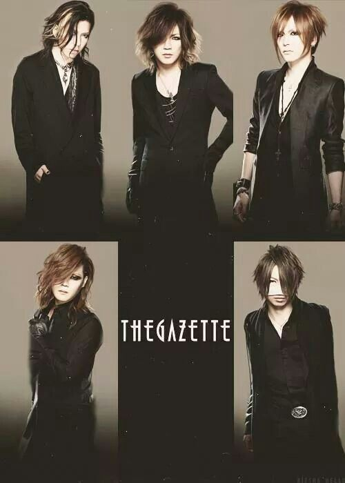The GazettE is my favorite band. But it's more than just a band to me. I truly do love them. It's amazing what Ruki can write; all those tragic songs about rape  murder, and everything in between. Their voices make me smile, their growls and screams make me giggle and I'm just so glad to have them as my favorite band. I love The GazettE!!! <3