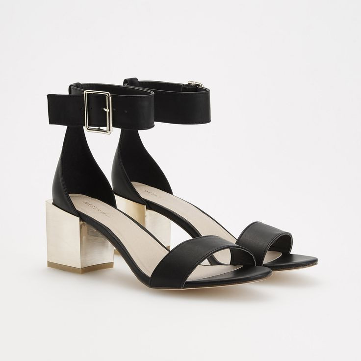Sandale cu toc, RESERVED, QT335-99X