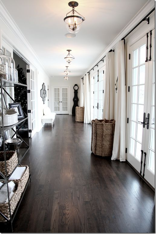 + White + dark floor + french doors