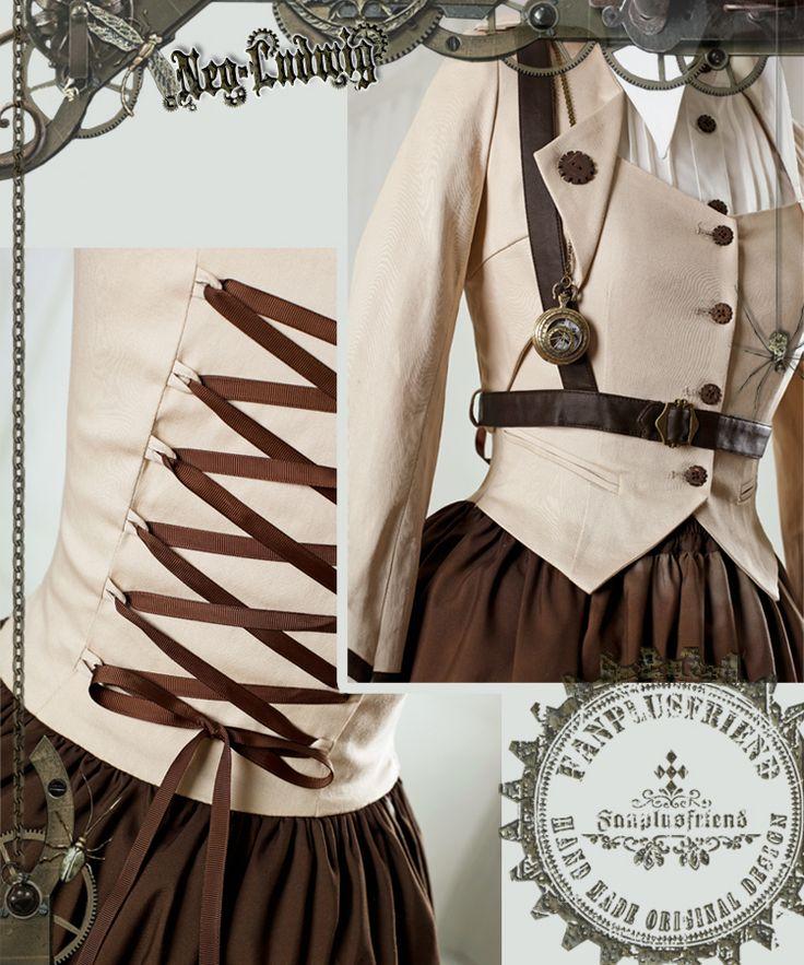"""fanplusfriend - """"Machine Birdcage"""" Steampunk Lolita Vest*4 color, $41.00 (http://www.fanplusfriend.com/machine-birdcage-steampunk-lolita-vest-4-color/)"""