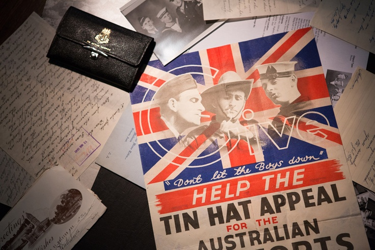A selection of WWII items from the Stonnington History Centre archive.