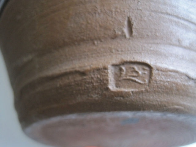 BERNARD LEACH EARLY SLIPWARE JUG 1938 BL Script Seal