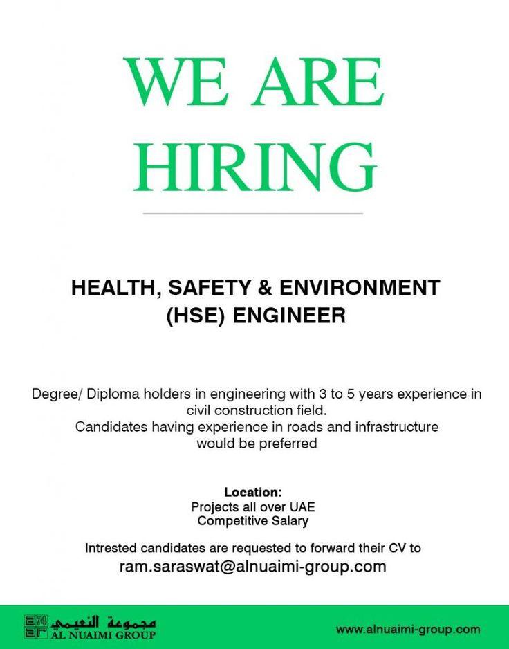 HSE Engineer UAE Openings Engineering degrees