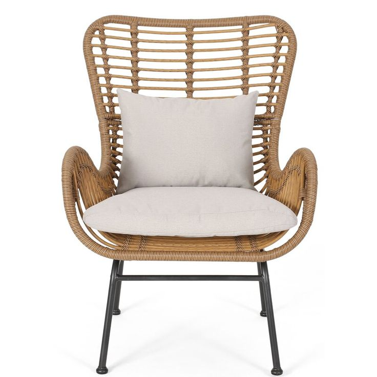 Bowerman 28 wide polyester armchair wicker patio chairs