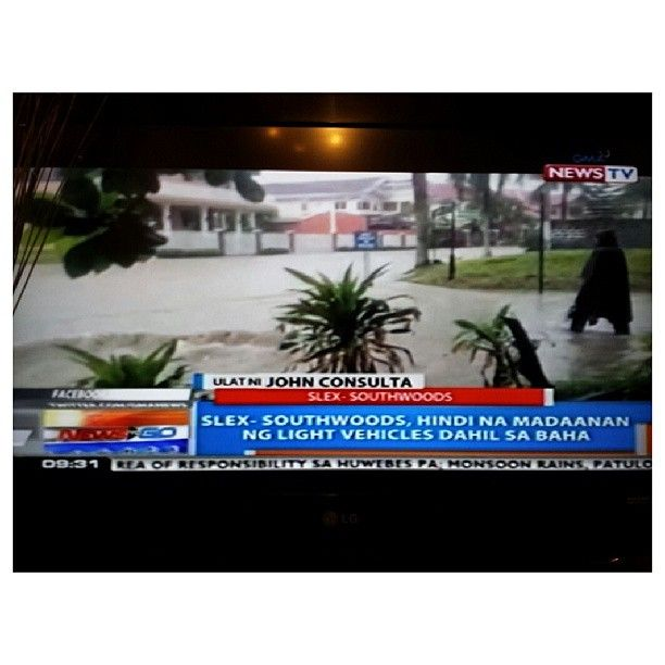 #slex #southwoods #flood #report by @GMA News #rain #typhoon #lowpressurearea #weather  #philippines #洪水 #台風 #天気 #フィリピン