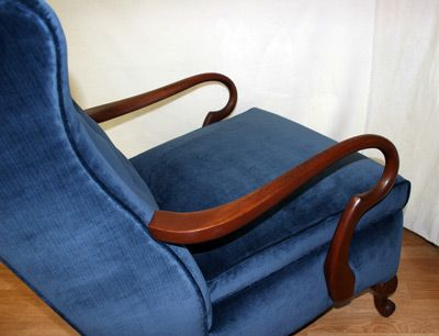 Curvy swan wood arms on this wingback chair Wood Arm, Curvy Swan ...