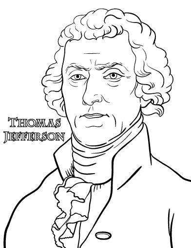Printable Thomas Jefferson coloring page. Free PDF ...