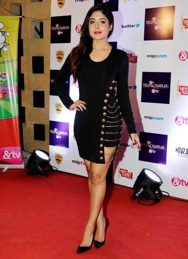 Kritika Kamra at Tellychakkar's 11th anniversary bash. #Bollywood #Fashion #Style #Beauty #Hot #Sexy #Punjabi