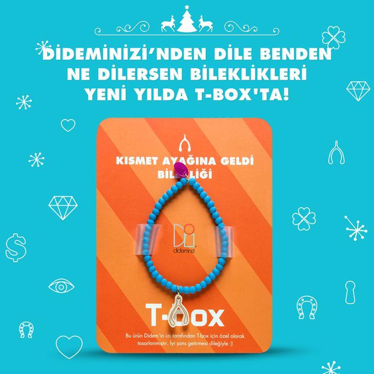 """Didemin İzi for T-box! Yeni yılda """"kısmet ayağına geldi"""" bilekliği #dideminizi #dideminizifortbox #aksesuar #bileklik"""