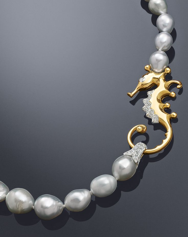 3300 best pearlspearlspearls images on pinterest jewelry fresh water pearls with delicate diamond seahorse clasp assael necklaces aloadofball Gallery