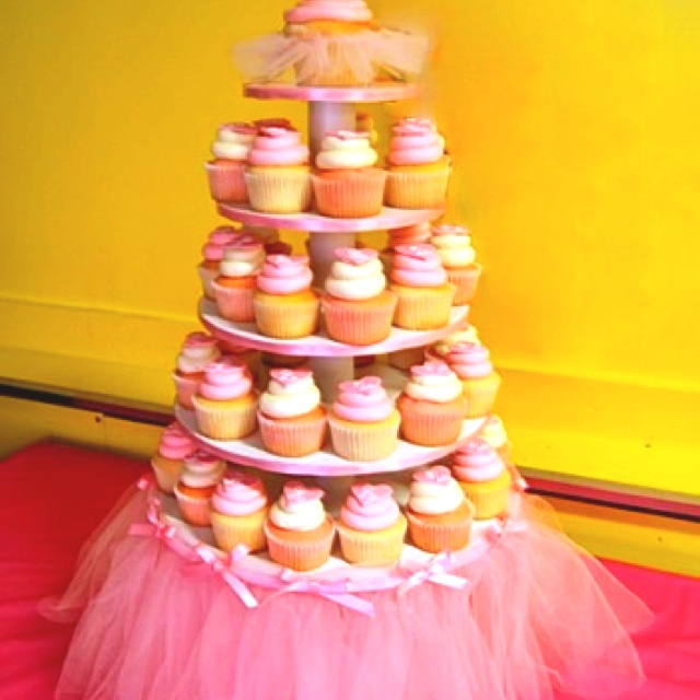 Cutest cupcake stand!!: Cupcake Stands, Birthday Parties, Parties Ideas, Girls Birthday, Tutu Cupcakes, Cupcakes Stands, Birthday Ideas, Baby Shower