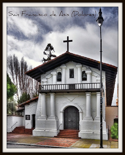 San Francisco de Asis Dolores Mission, San Francisco CA by Michael D Martin, via Flickr built in 1776 was the 6th mission.