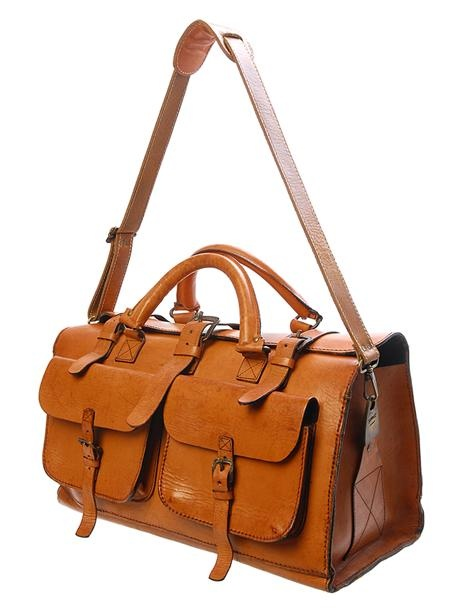 Classic Leather Travel Bag / Sandast