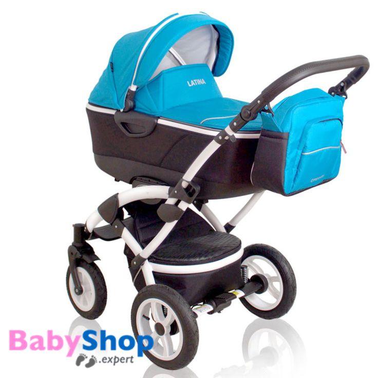 Kombikinderwagen 3in1 Latina kompakt mit Babyschale - blau  http://www.babyshop.expert/Kombikinderwagen-3in1-Latina-kompakt-mit-Babyschale_3  #babyshopexpert #kombikinderwagen