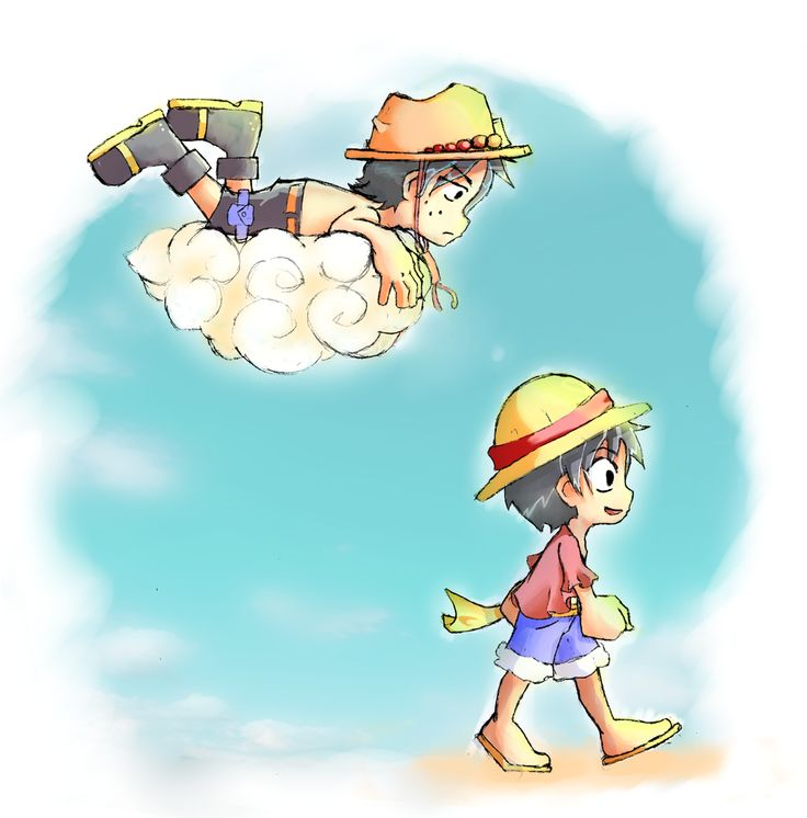 This one is so cute but breaks my heart - One piece Luffy and Ace