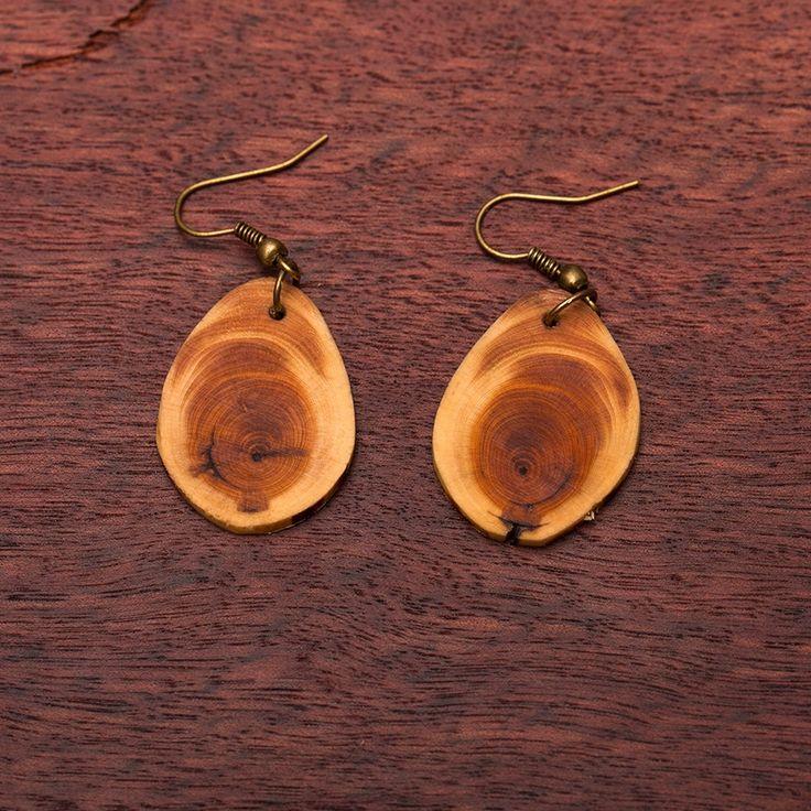 Natur - Ohrringe Holzschmuck aus Naturholz / Anhänger