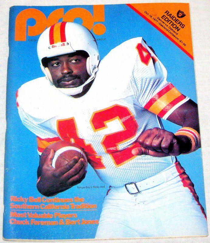 1977 Oakland Raiders vs Denver Broncos Game Program Orange Crush Tom Jackson | eBay