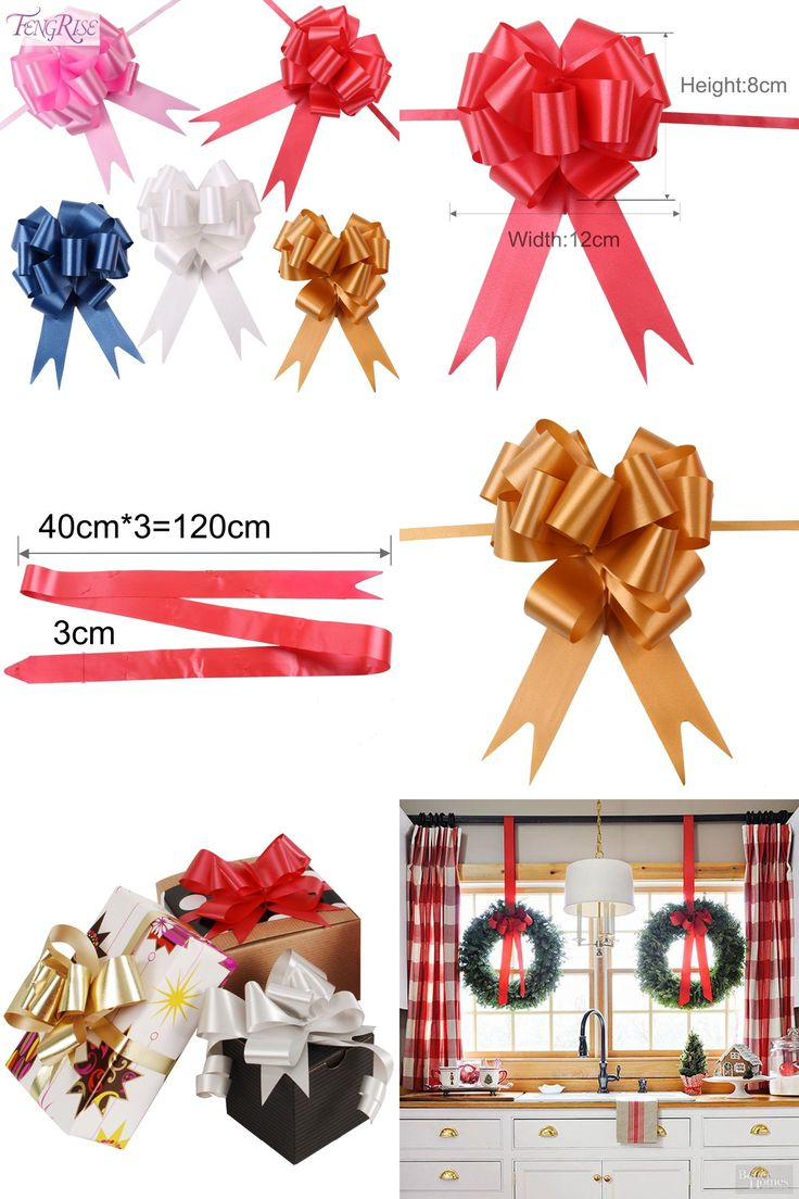 [Visit to Buy] FENGRISE 30pcs 30mmx120cm Pull Bows Large Ribbon Wedding Decoration Car DIY Gift Packaging Ribbons Party Valentines Day Crafts #Advertisement